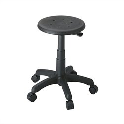 Backless Office Stool in Black
