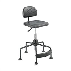 Safco Task Master Economy Industrial Drafting Chair in Black