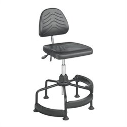 Safco Task Master Deluxe Industrial Drafting Chair/Drafting Chair in Dark Grey