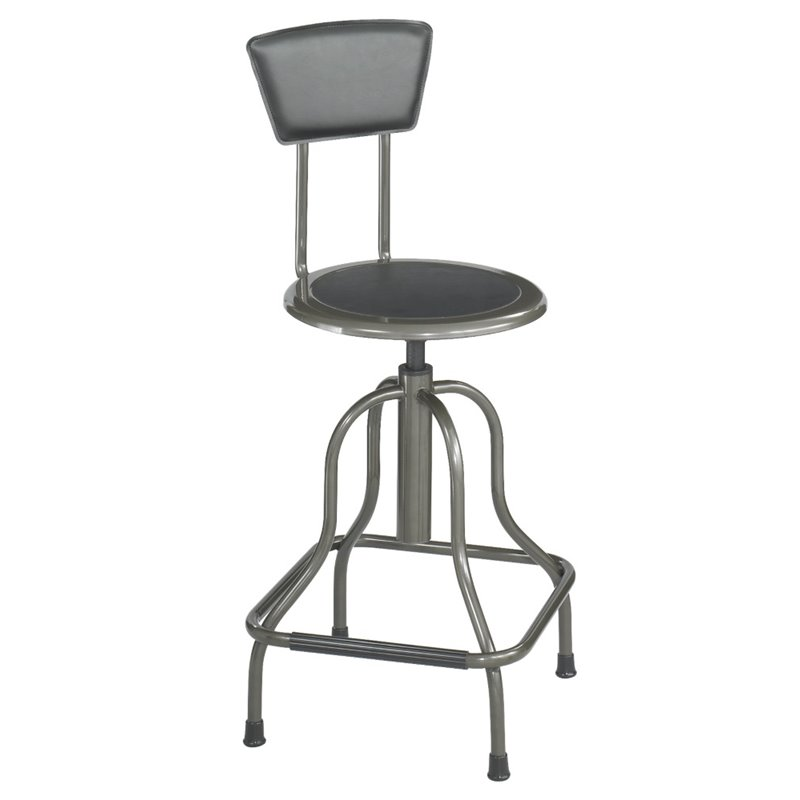 Black High Base Diesel Industrial Stool