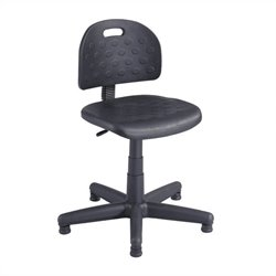 Soft Tough Task Drafting Chair in Black