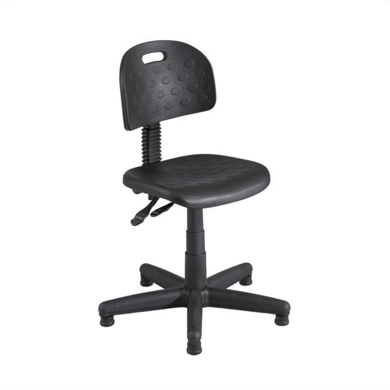 Soft Tough Deluxe Black Task Drafting Chair/Drafting Chair