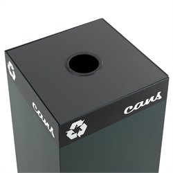 Safco Public Square Can/Glass Hole Lid for Recycling Receptacle Base