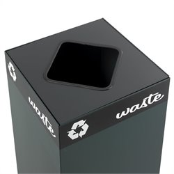 Safco Public Square Waste Lid for Recycling Receptacle Base
