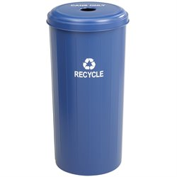 Tall Round Receptacle in Blue