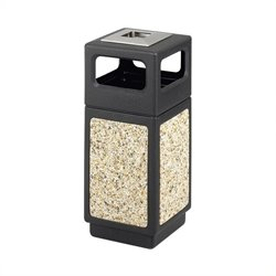 Outdoor Aggregate Panel Side Opening Receptacle with Urn