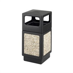 Safco Canmeleon Series Outdoor Aggregate Panel Side Opening Receptacle