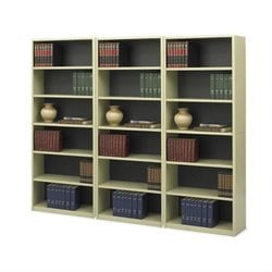 6-Shelf ValueMate Sand Economy Steel Wall Bookcase