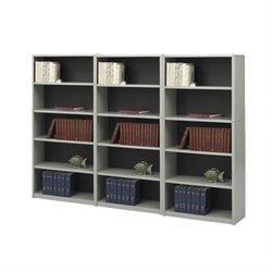 5 Shelf Wall Economy Steel Bookcase