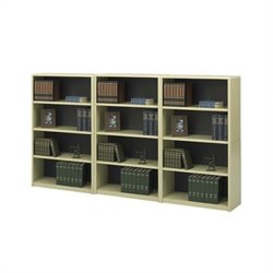 Safco 4-Shelf ValueMate Economy Steel Wall Bookcase in Sand