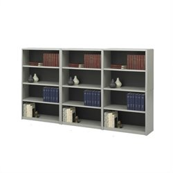 4-Shelf ValueMate Economy Steel Wall Bookcase in Grey