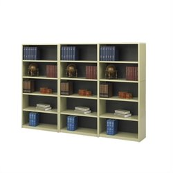 5-Shelf Economy Steel Wall Bookcase in Sand