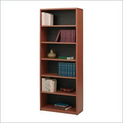 Safco 6-Shelf ValueMate® Economy Bookcase in Cherry