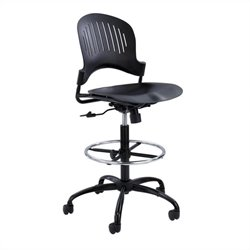 Plastic Extended-Height Office Chair in Black