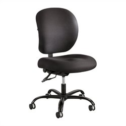 24/7 Armless Task Office Chair in Black