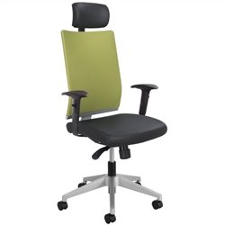 Manager Office Chair with Headrest in Wasabi