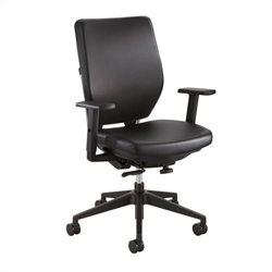 Task Office Chair with Arms in Black Vinyl