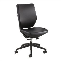 Task Office Chair in Black Vinyl