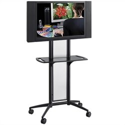Flat Panel TV Cart in Black