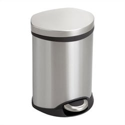 Safco Step-On Medical Receptacle - 1.5 Gallon in Stainless Steel