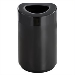 Open Top Receptacle - 30 Gallon in Black