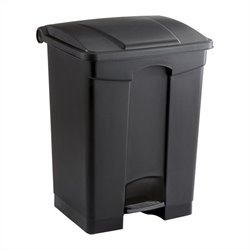 Safco Plastic Step-On Receptacle - 17 Gallon in Black