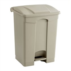 Safco Plastic Step-On Receptacle - 17 Gallon in Tan