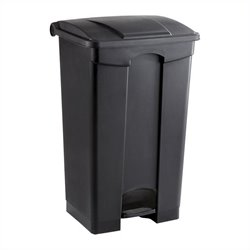 Safco Plastic Step-On Receptacle - 23 Gallon in Black