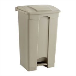 Safco Plastic Step-On Receptacle - 23 Gallon in Tan