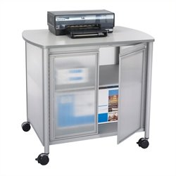 Deluxe Machine Stand with Doors in Gray