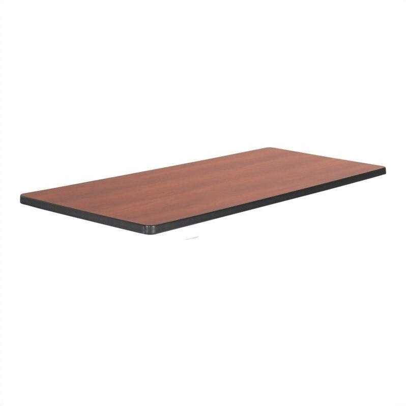 Mobile Training Table Rectangle Top 60x24 in Cherry