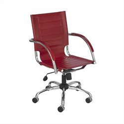 Managers Office Chair Red Leather in Red