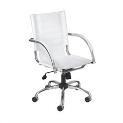 Managers Office Chair White Leather in White