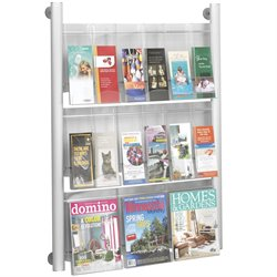 9 pocket Magazine Rack in Silver