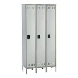 Single Tier Locker 3 Column in Gray