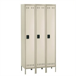 Single Tier Locker 3 Column in Tan