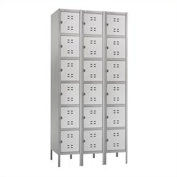 Box Locker 3 Column in Gray