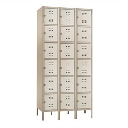 Box Locker 3 Column in Tan
