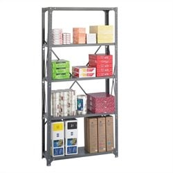 36 x 12 Commercial 5 Shelf Kit in Dark Grey Finish