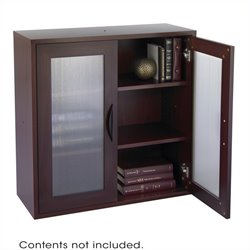 Modular Storage 2 Door Cabinet in Mahogany