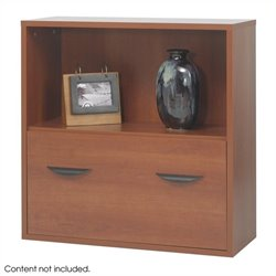 Modular Storage Shelf with Lower in Cherry