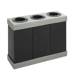 Safco At-Your-Disposal Recycling Center in Black