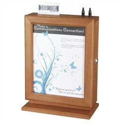 Customizable Wood Suggestion Box in Cherry