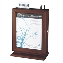 Customizable Wood Suggestion Box in Mahogany