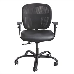 Safco Vue Intensive Use Mesh Task Office Chair in Black Vinyl