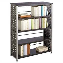 Safco Scoot 4 Shelf Bookcase in Black