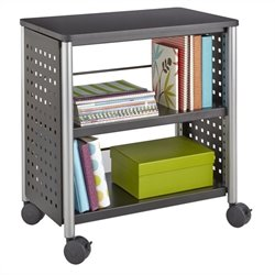 Safco Scoot Personal Bookcase in Black