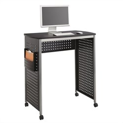 Safco Scoot Standing Desk Workstation in Black