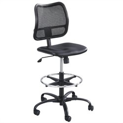 Safco Vue Heavy Duty Stool in Black Vinyl
