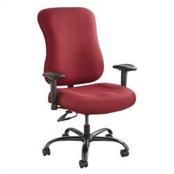 400lb Big and Tall Office Chair in Burgundy